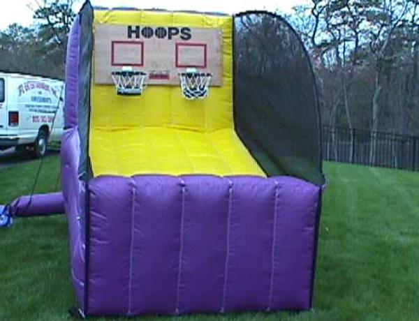 Double Hoop Shot Basketball   Inflatable