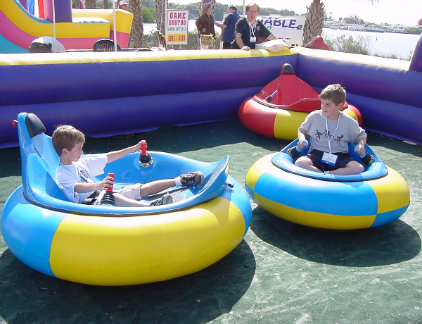Bumper Cars In A Inflatable Rink Jpz Entertainment Inc