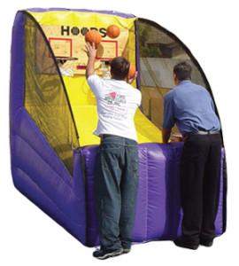 inflatabe double hoop shot basketaball
