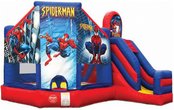 Spiderman Bouncer and Slide