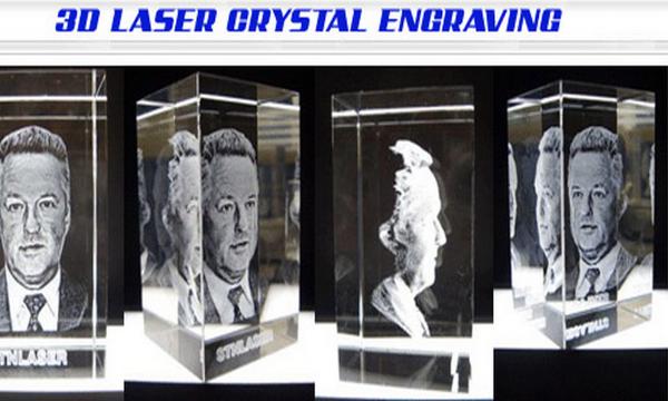 3D Laser Crystal Engraving